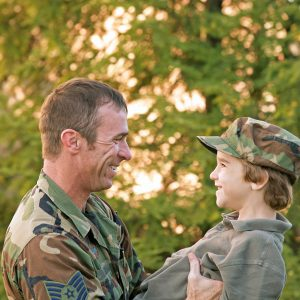 Army Dad and Kid