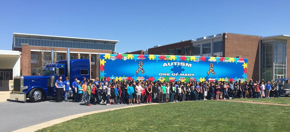 "Autism Truck ""One of Many"""