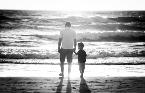 Beach Dad and Son